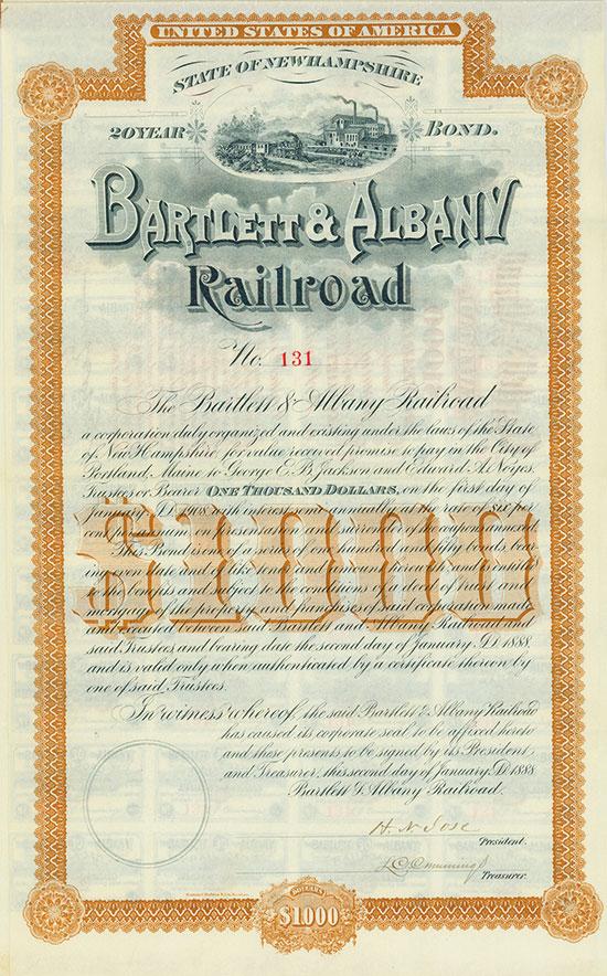 Bartlett & Albany Railroad
