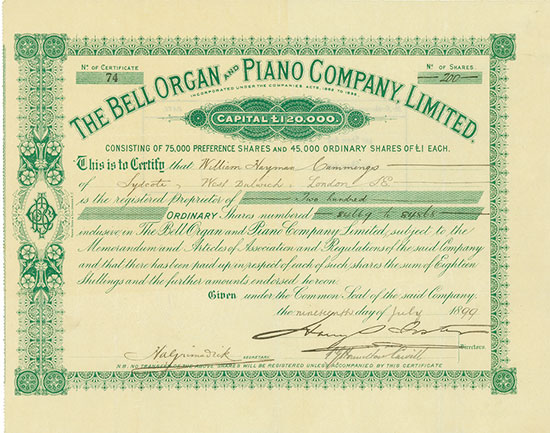 Bell Organ and Piano Company, Limited