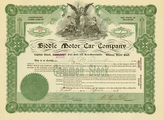 Biddle Motor Car Company