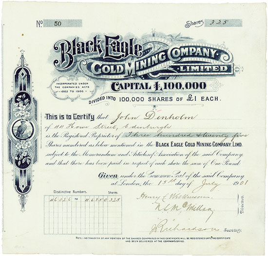 Black Eagle Gold Mining Company, Limited