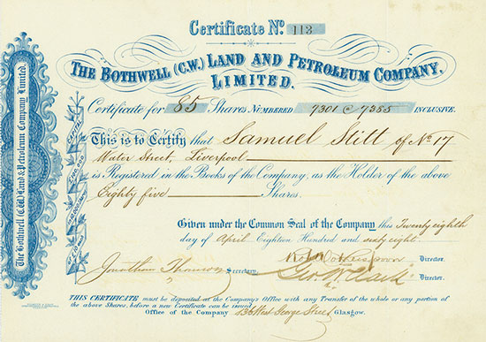 Bothwell (C.W.) Land and Petroleum Company, Limited