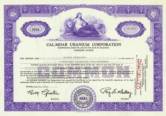 Cal-Moab Uranium Corporation