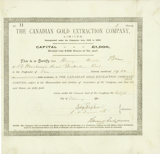 Canadian Gold Extraction Company, Limited