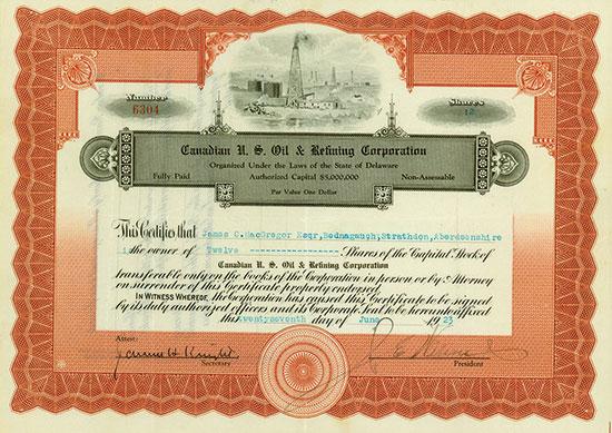 Canadian U. S. Oil & Refining Corporation