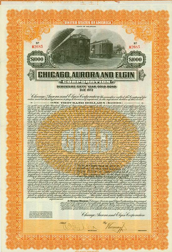 Chicago, Aurora and Elgin Corporation