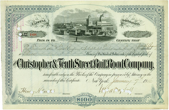 Christopher & Tenth Street Rail Road Company