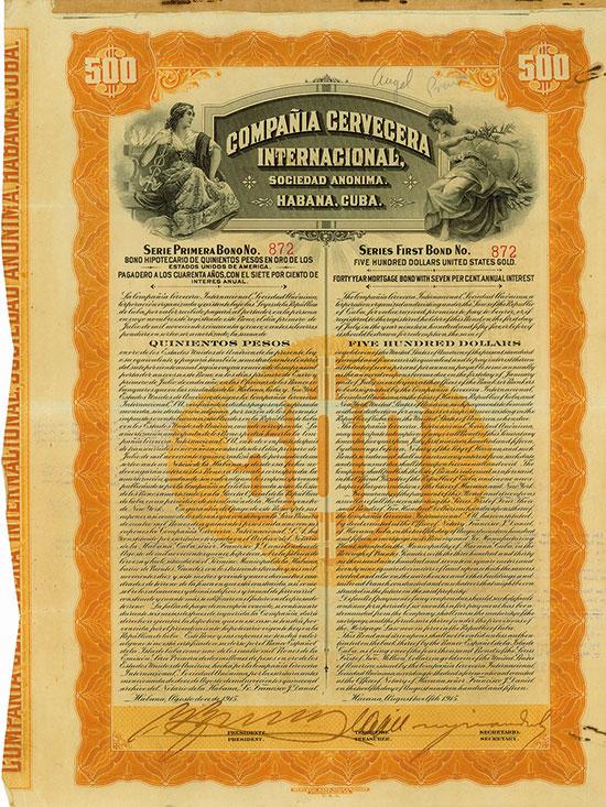 Compañia Cervecera Internacional, Sociedad Anonima