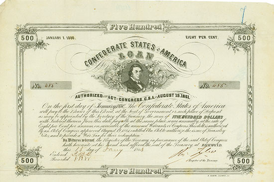 Confederate States of America (Ball 123, Criswell 73)