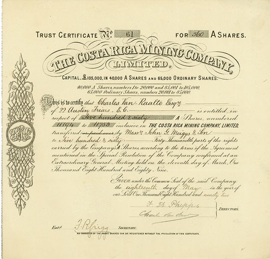 Costa Rica Mining Company, Limited