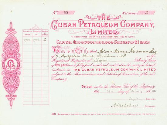 Cuban Petroleum Company, Limited