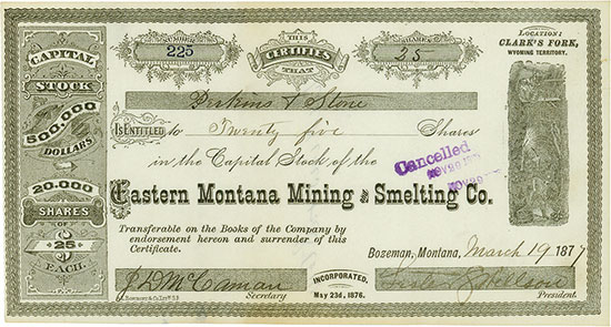 Eastern Montana Mining and Smelting Co.