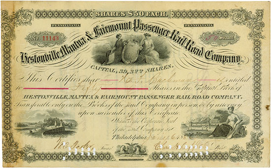 Hestonville, Mantua & Fairmount Passenger Rail Road Company