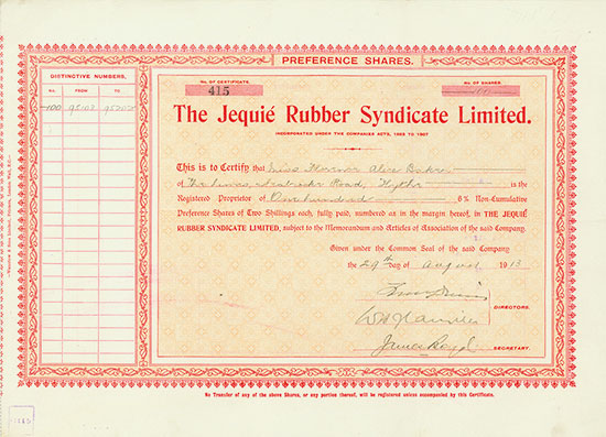 Jequié Rubber Syndicate Limited