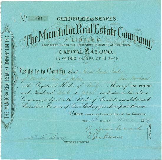 Manitoba Real Estate Company, Limited