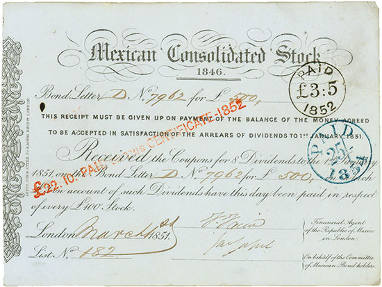 Mexican Consolidated Stock