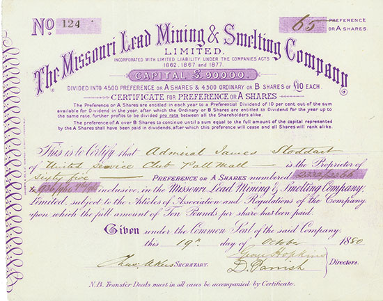 Missouri Lead Mining & Smelting Company, Limited