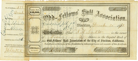 Odd-Fellows' Hall Association of the City of Stockton