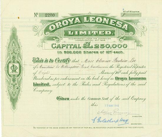 Oroya Leonesa Limited