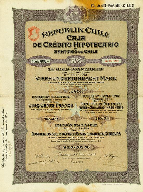 Republik Chile - Caja de Crédito Hipotecario in Santiago de Chile