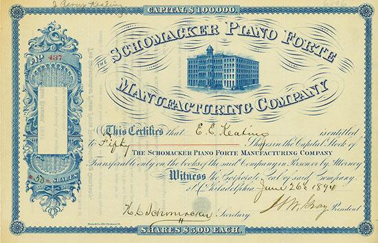 Schomacker Piano Forte Manufacturing Company