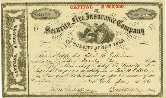 Security Fire Insurance Company of the City of New York