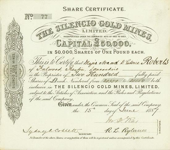 Silencio Gold Mines, Limited