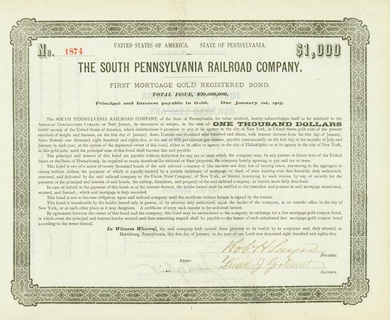 South Pennsylvania Railroad Company