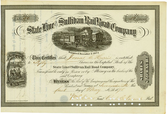 State Line and Sullivan Rail Road Company