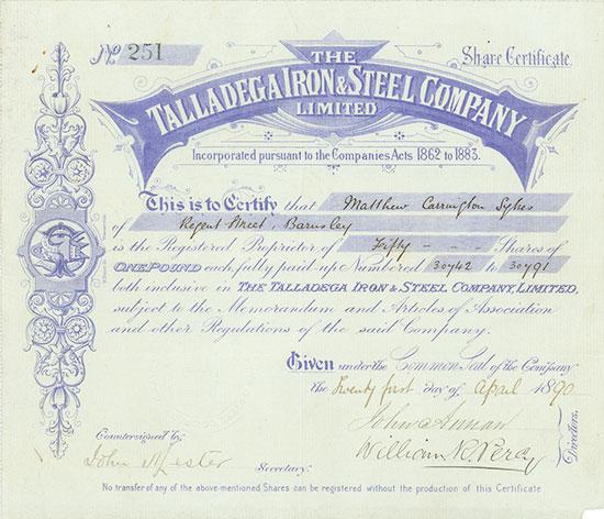 Talladega Iron & Steel Company Limited