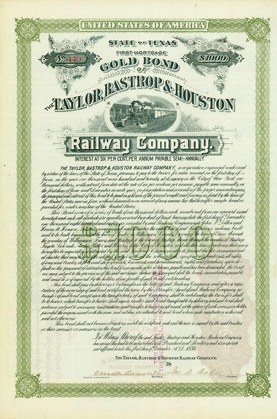 Taylor, Bastrop & Houston Railway Company