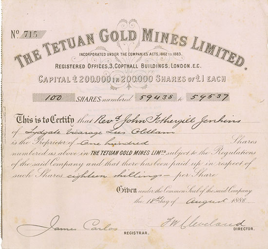 Tetuan Gold Mines Limited