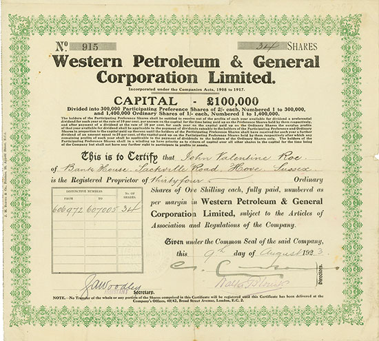 Western Petroleum & General Corporation Limited