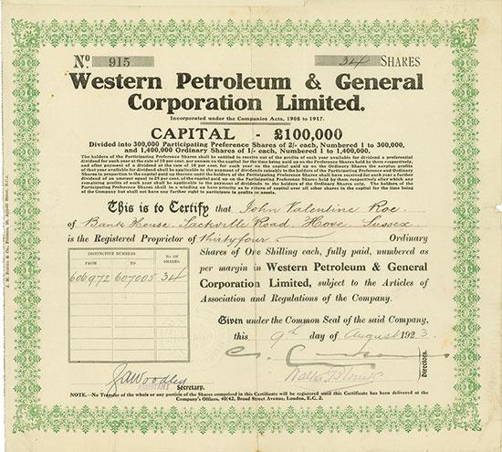 Western Petroleum & General Corporation Limited
