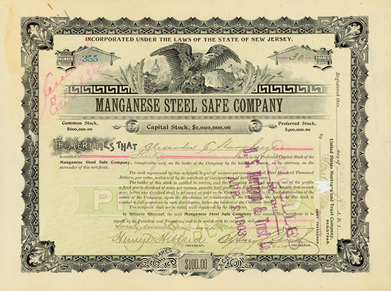 Manganese Steel Safe Company