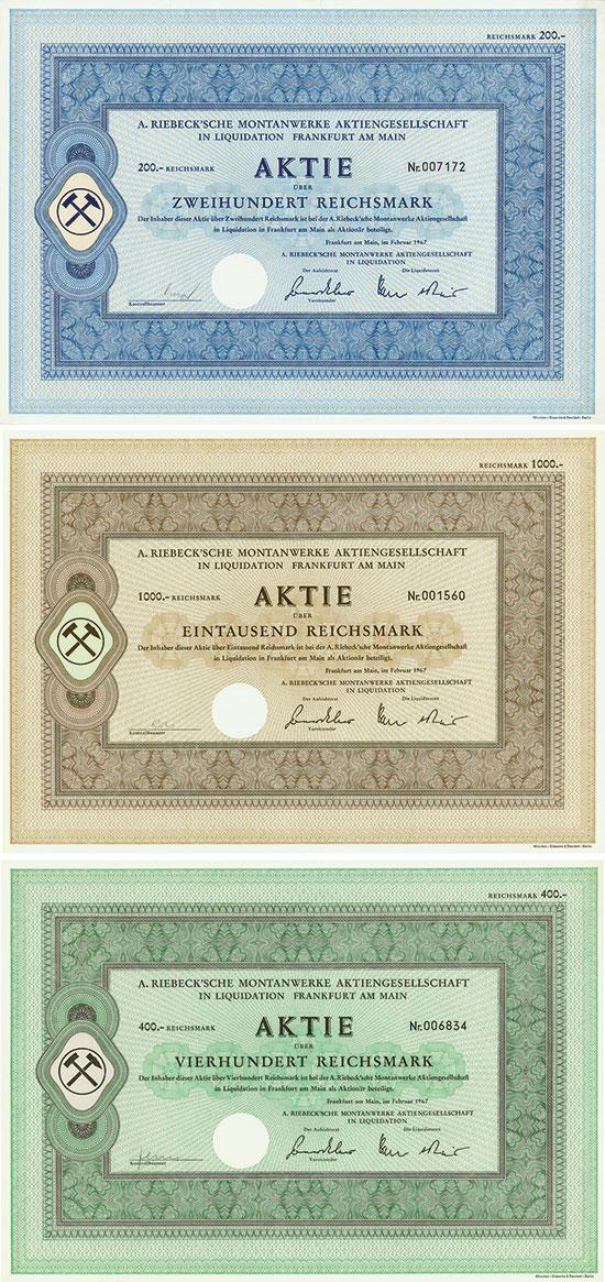 A. Riebeck'sche Montanwerke Aktiengesellschaft in Liquidation [386 Stück]