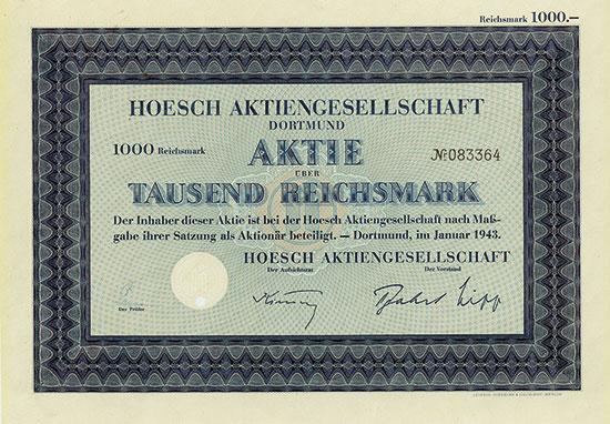 Hoesch AG [11 Stück]