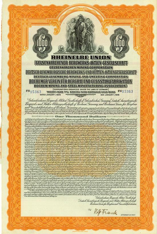 Rheinelbe Union [7 Stück]