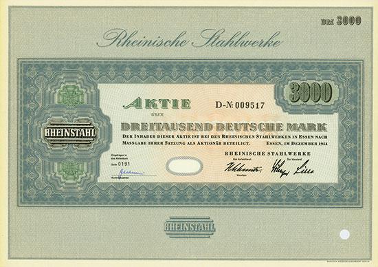 Rheinische Stahlwerke / Rheinische Stahlwerke zu Meiderich bei Ruhrort [15 Stück]