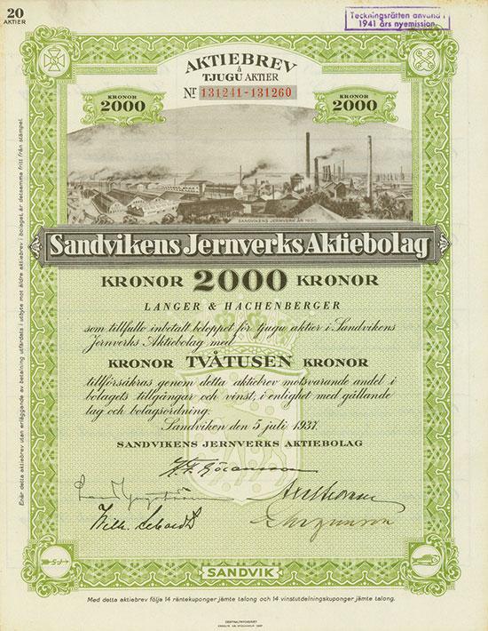 Stahlwerte Schweden [4 Stück]