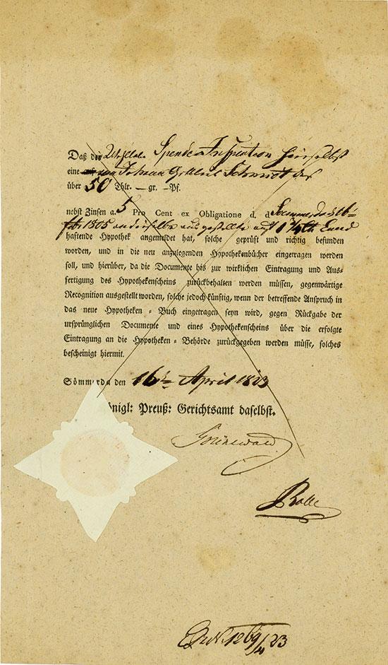 Königlich Preußisches Gerichtsamt Sömmerda