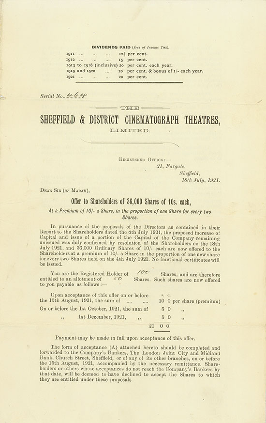 Sheffield & District Cinematograph Theatres, Limited