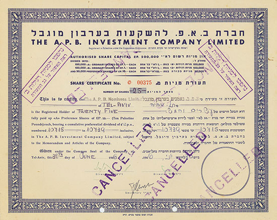 A. P. B. Investment Company Limited
