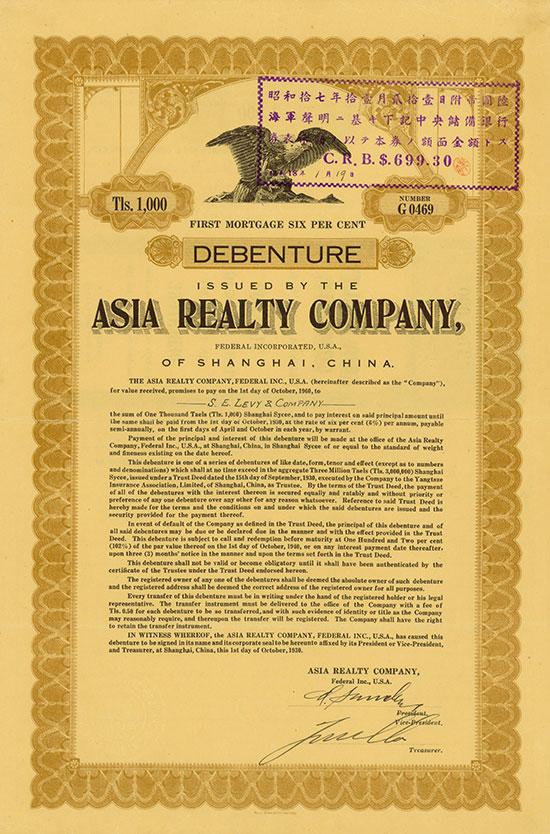 Asia Realty Company of Shanghai