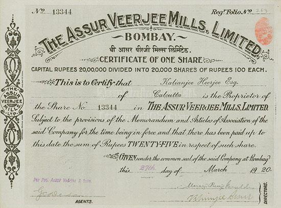 Assur Veerjee Mills, Limited