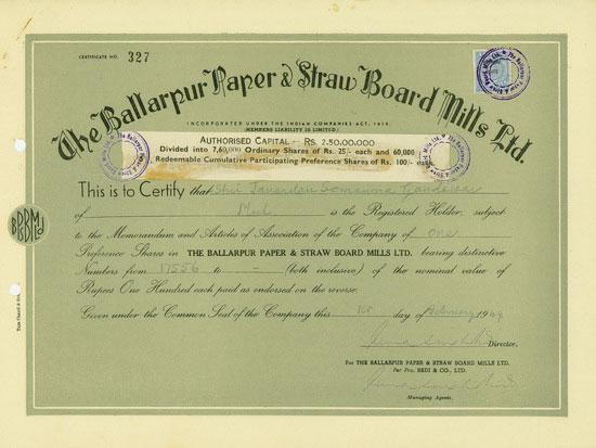 Ballarpur Paper & Straw Board Mills Ltd.