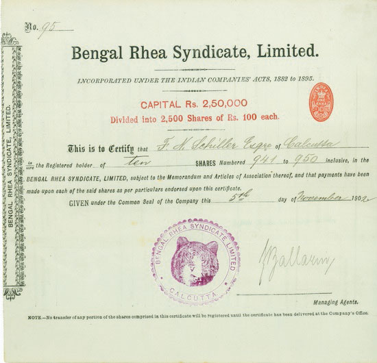 Bengal Rhea Syndicate, Limited