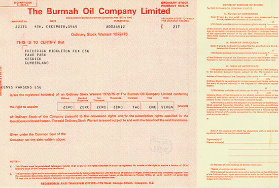 Burmah Oil Company Limited