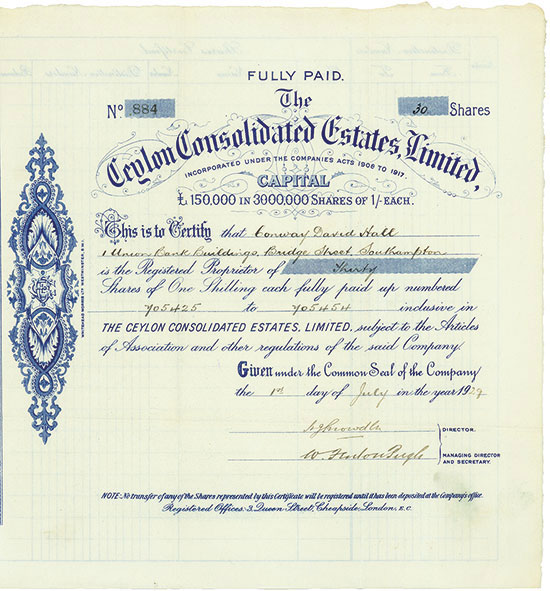 Ceylon Consolidated Estates, Limited