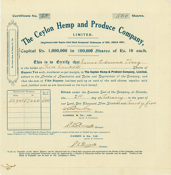 Ceylon Hemp and Produce Company, Limited