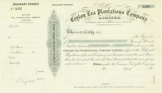 Ceylon Tea Plantations Company, Limited